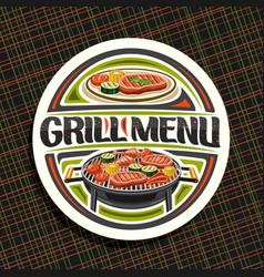 Logo for grill menu vector