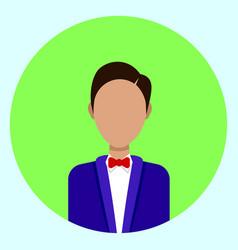 Male avatar profile icon round man face vector