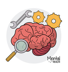 Mental health gear search image vector
