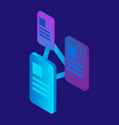 message connection icon isometric style vector image