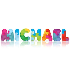 MICHAEL written with alphabet puzzle vector