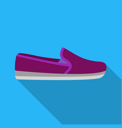 Moccasin icon in flat style isolated on white vector