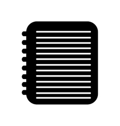 Notebook pictogram icon image vector