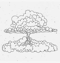 nuclear explosion sketch cartoon vector image