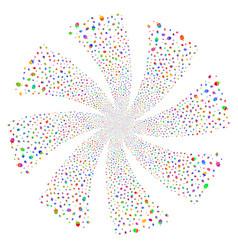 Oak acorn fireworks swirl rotation vector