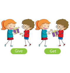 Opposite words with give and get vector