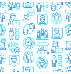 people and users seamless pattern vector image