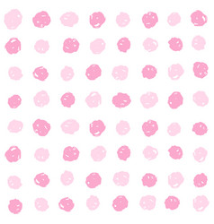 Pink paint dots background vector
