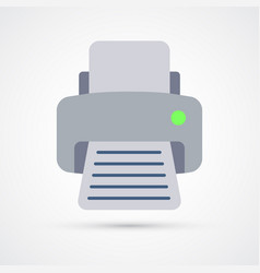 printer trendy colorful icon fax vector image