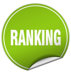 Ranking round green sticker isolated on white vector