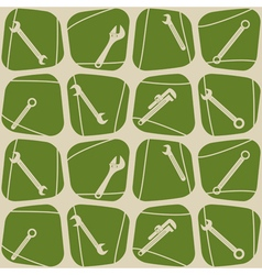 Seamless background with diffrent wrench vector image