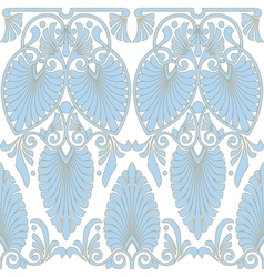 Seamless greek Art Nouveau pattern vector image
