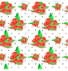 seamless pattern with bilberries vector image