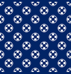 Seamless travel pattern with lifebuoy vector