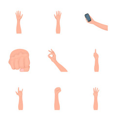 significance of gestures cartoon icons in set vector image