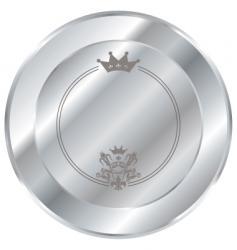 silver button vector image