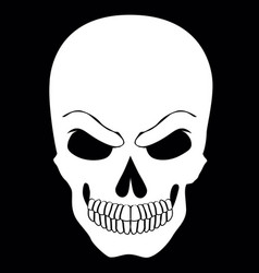simple web icon in skull black and white vector image