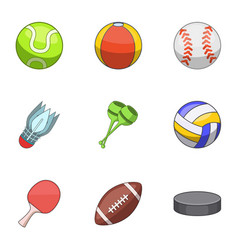 Sphere icons set cartoon style vector