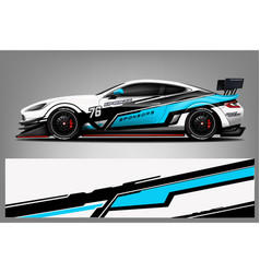 sport car racing wrap design design vector image