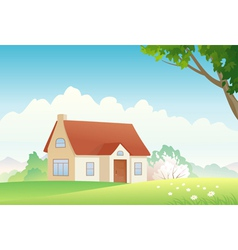 Spring house vector