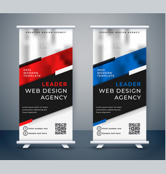 Standee design for your business presentation vector