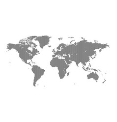 striped world map vector image