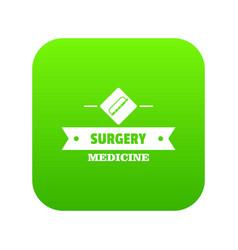 surgery medicine icon green vector image