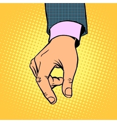 Take contribution gesture hand business concept vector