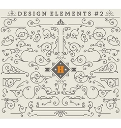 Vintage Ornaments Decorations Design Elements 2 vector image
