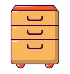 Wardrobe files icon cartoon style vector