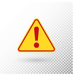 Warning symbol attention button red exclamation vector