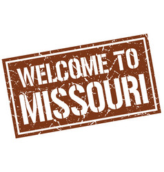 Welcome to missouri stamp vector