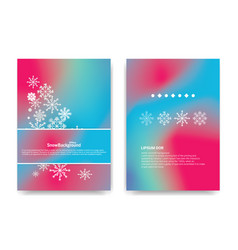 Winter background design white snowflake with vector