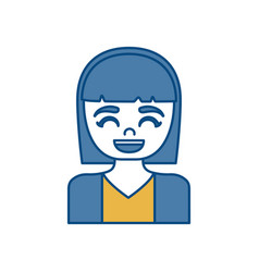 Woman smiling icon vector