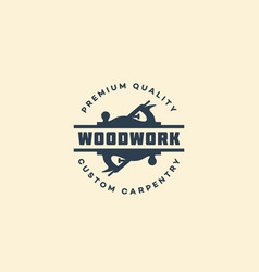 Woodwork logo vector