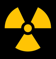 Yellow radiation sign vector