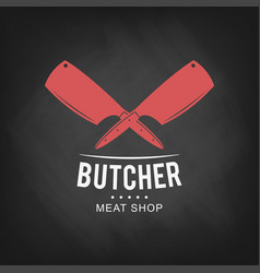 butcher meat shop logo design retro butcher shop vector image vector image