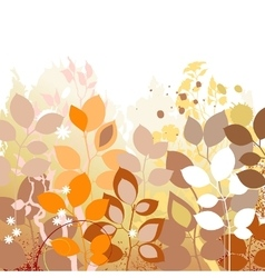 Fall leaves background Autumn in foliage colors vector image vector image