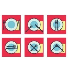 Provide etiquette set flat vector