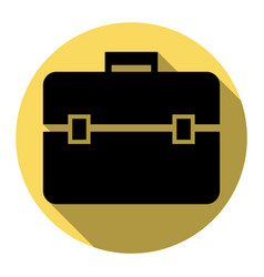 briefcase sign flat black vector image
