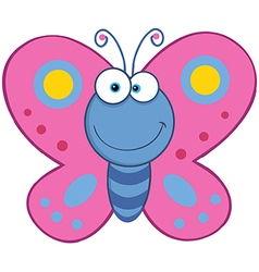 Butterfly cartoon vector image vector image