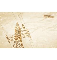 Electrical Transmission Line vector image vector image