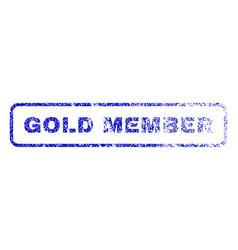 Gold member rubber stamp vector