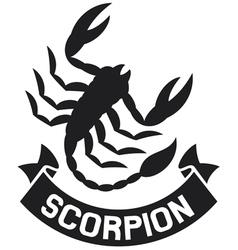 scorpion label vector image