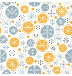 Snowflake pattern on white background vector image