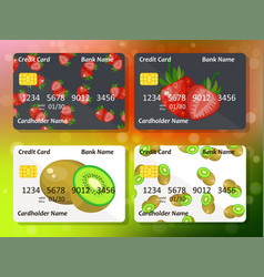 Design for credit card vector