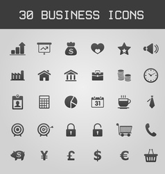 Business Design elements icon set vector image vector image