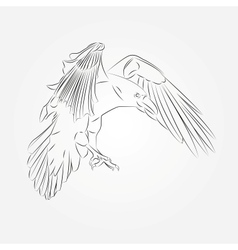 Sketch of Crow in vector image vector image
