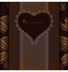 Vintage invitation card or background pattern art vector image vector image