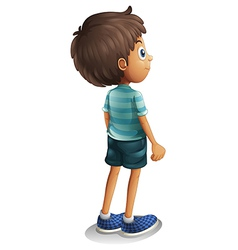 A back view of a young boy vector image